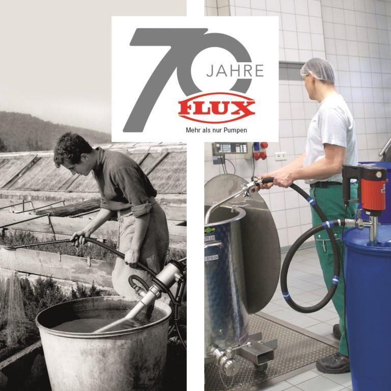 70 years electric drum pump – 70 years FLUX