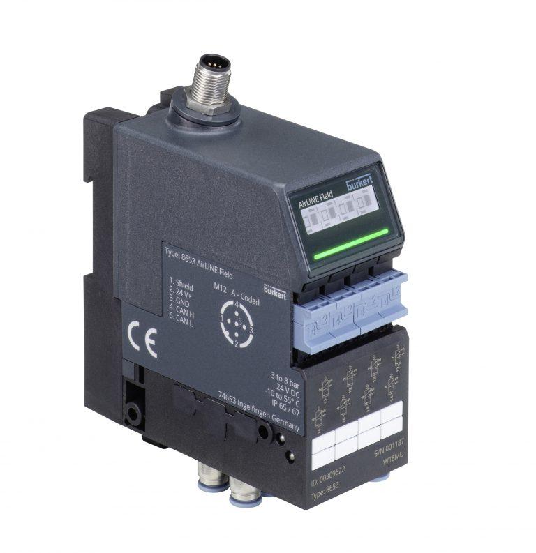Bürkert: Druckluft-Ventilinsel mit einfacher Inbetriebnahme und Wartung
