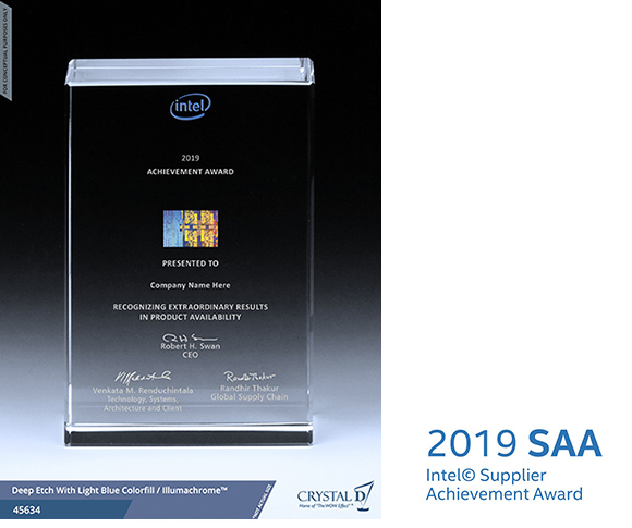 EBARA receives 2019 Supplier Achievement Award (SAA) from Intel Corporation (US)