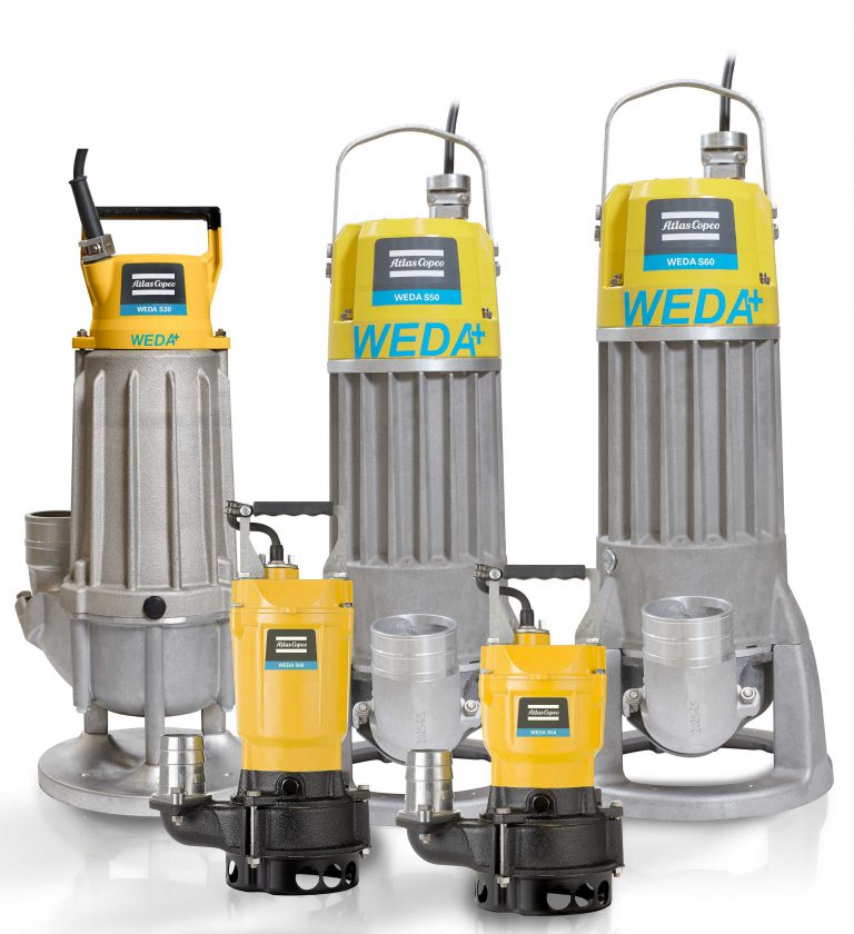 Atlas Copco expands the WEDA range with the S50 Sludge pump