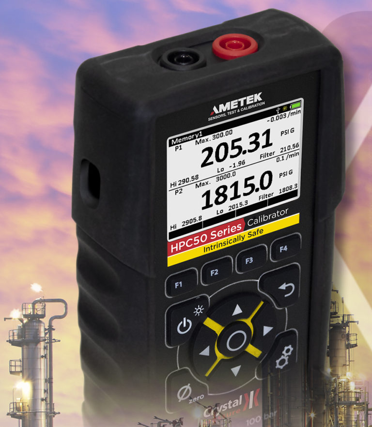Ametek Crystal Pressure Calibrator with High Accuracy for Oil & Gas Process Control