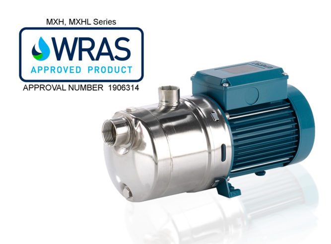 Calpeda Upgrades its WRAS Approval for MXH and MXHL Pump Models