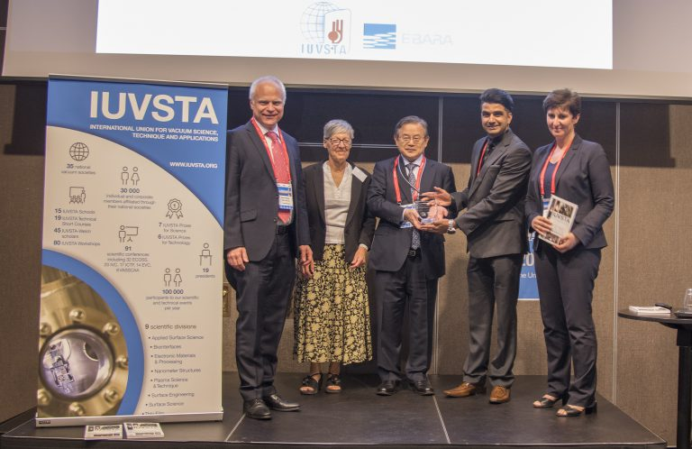 Ebara hosted IUVSTA-Ebara Award Ceremony