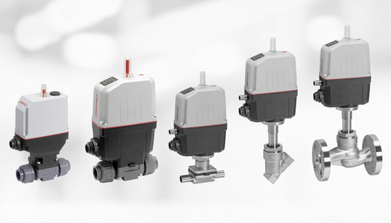 Expanded range of motorized valves