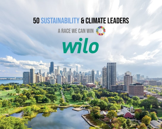 "Wilo selected as one of ""50 Sustainability & Climate Leaders"" worldwide"