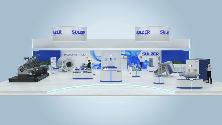 Virtuell werden – Sulzer begrüßt die Besucher auf seinem virtuellen Online-Messestand