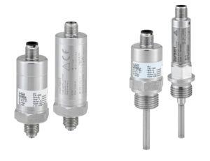 Druck- und Temperatursensoren mit CANopen und IO-Link