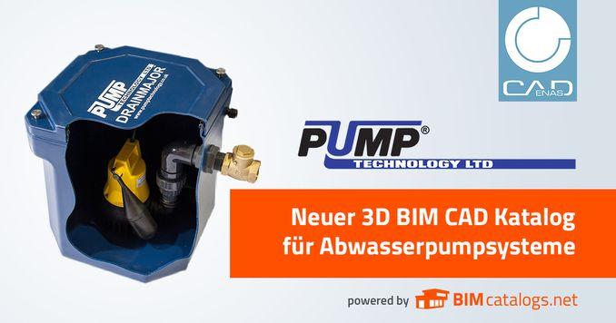 Neu entwickelter 3D BIM Katalog für Abwasserpumpsysteme