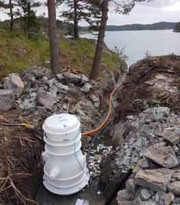 Unter Druck stehende Abwasserpumpensysteme für abgelegene Ferienhäuser in Norwegen