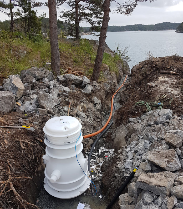 Pressurized Sewage Pumping Systems for Norways Remote Holiday Homes
