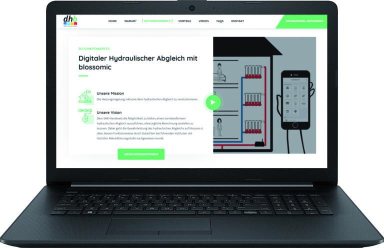 Neue Webseite zum digitalen hydraulischen Abgleich