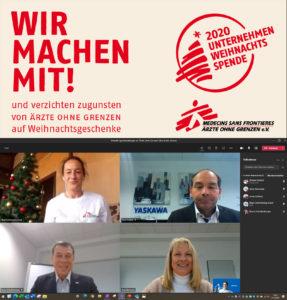 """Yaskawa Weihnachtsaktion unterstützt """"Ärzte ohne Grenzen"""""""