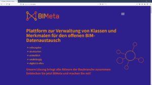 BIMeta – die erste digitale Plattform für alle BIM-Klassen und -Eigenschaften im Bauwesen