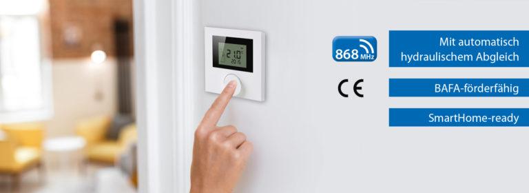 Funksteuerung mit hydraulischem Abgleich für Flächenheiz- und -kühlungen