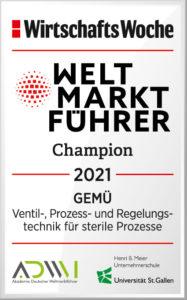 GEMÜ zum fünften Mal in Folge als Weltmarktführer ausgezeichnet