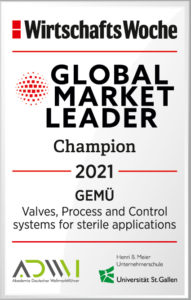 "GEMÜ Honoured as ""Global Market Leader"" for the Fifth Time in a Row"