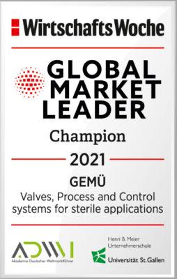 """GEMÜ premiato come """"Leader del mercato globale"""" per la quinta volta consecutiva"""