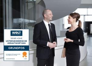 """Grundfos für """"unternehmerische Verantwortung"""" ausgezeichnet"""