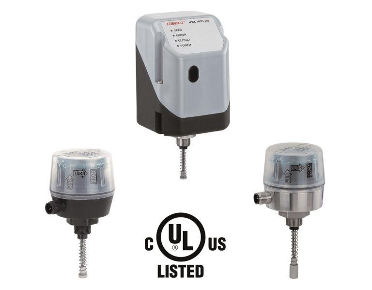 Altri componenti di automazione GEMÜ ricevono il marchio di certificazione UL