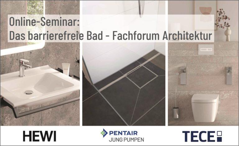 Online-Seminar: Das barrierefreie Bad – Fachforum Architektur