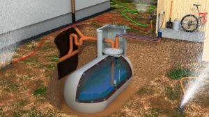 Nachhaltige Neunutzung: Der Öltank wird zum Regenwasserspeicher