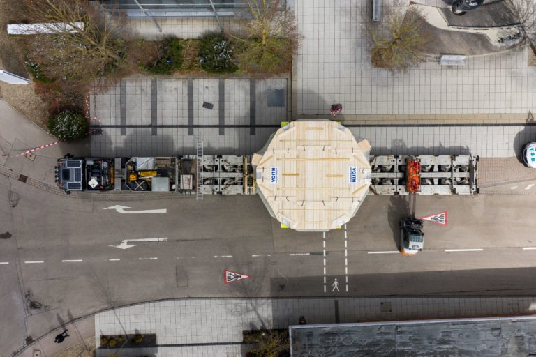 Voith Hydro Transports Giant Stator to Bavarian Power Plant