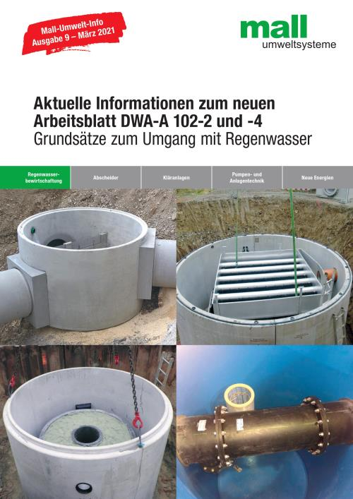 Mall-Lösungen zur Umsetzung der DWA-A 102