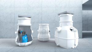 Sanitärtechnik: HOMA Hebeanlagen mit Sammelbehälter für höheres Schmutzwasseraufkommen
