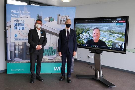 Un ministre français visite le site de Wilo à Laval