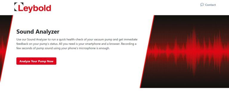 Leybold offre controlli acustici online per le pompe per vuoto