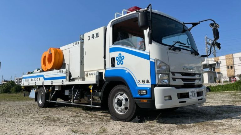 EBARA Delivered Drainage Pump Trucks for Disaster Recovery to Fukuoka Prefecture