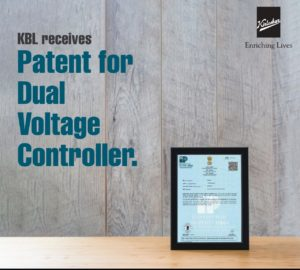 KBL Receives Patent for Dual Voltage Controller