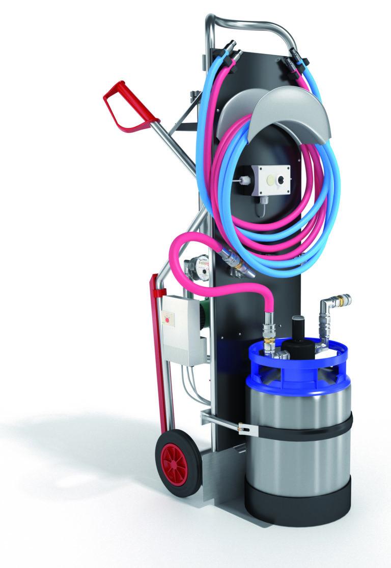 Neues Füllmobil zur Heizwasseraufbereitung von ORBEN