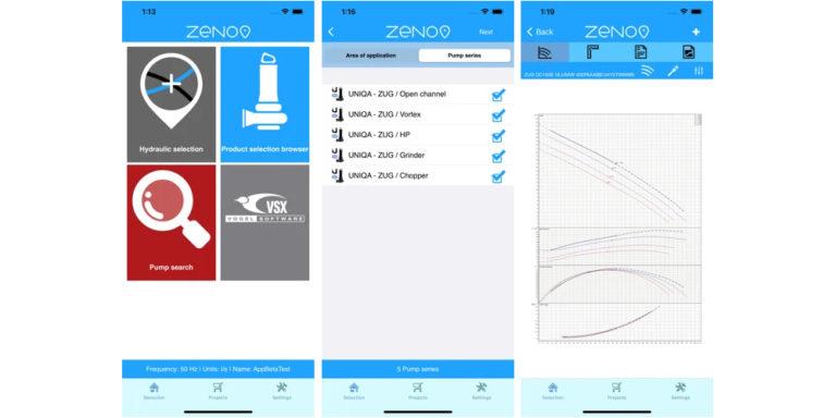 Zenit präsentiert neue mobile App für Zeno Pump Selector