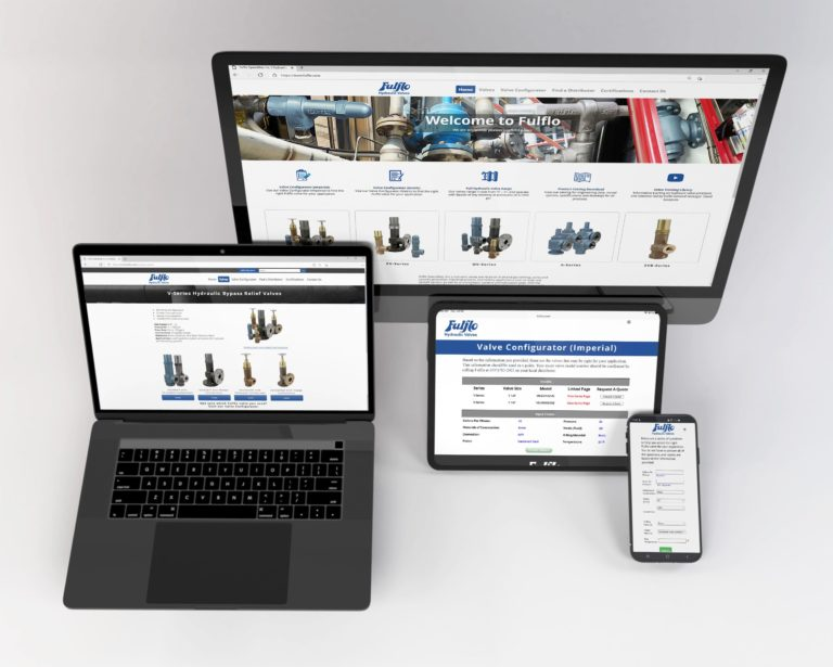 Redesigned Fulflo Website with Practical Tools for Hydraulic Valve Customers