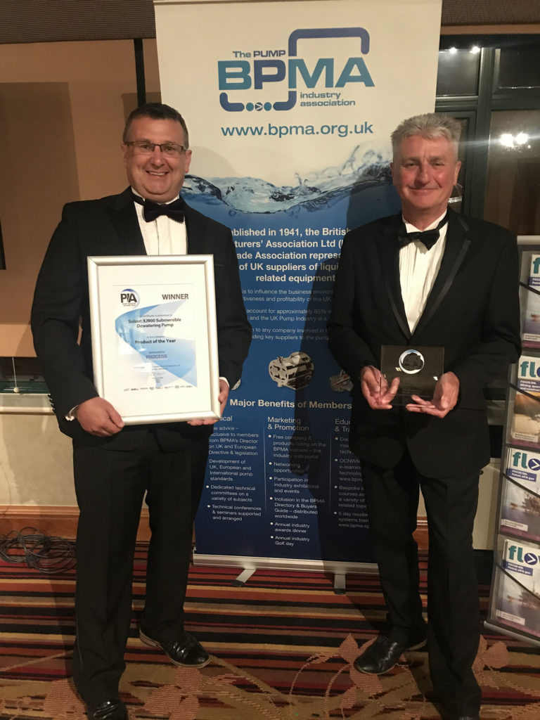 Sulzer's XJ 900 was Awarded Product of the Year at the Pump Industry Awards