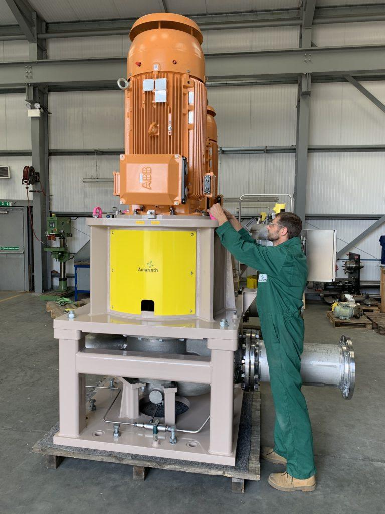 Amarinth consegna più ordini di pompe centrifughe per la Tortue FPSO